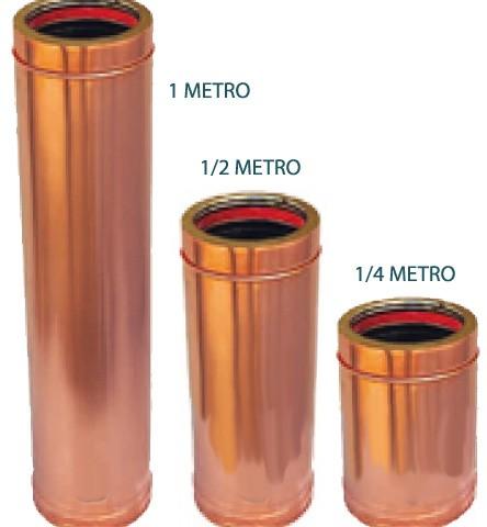 Fumisteria acciaio inox tubi roma vendita online tubo doppia parete esterno rame coibentato - Tubo gas esterno ...