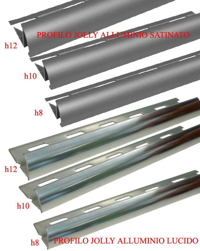 Profilo angolo jolly in alluminio bagno mattonelle for Angolo jolly piastrelle