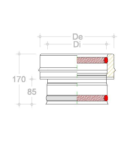 RACCORDO DP INOX per caldaia SEZINT